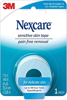 Nexcare Sensitive Skin Low Trauma Tape 1 in x 144 in 1 ea (Pack of 4)