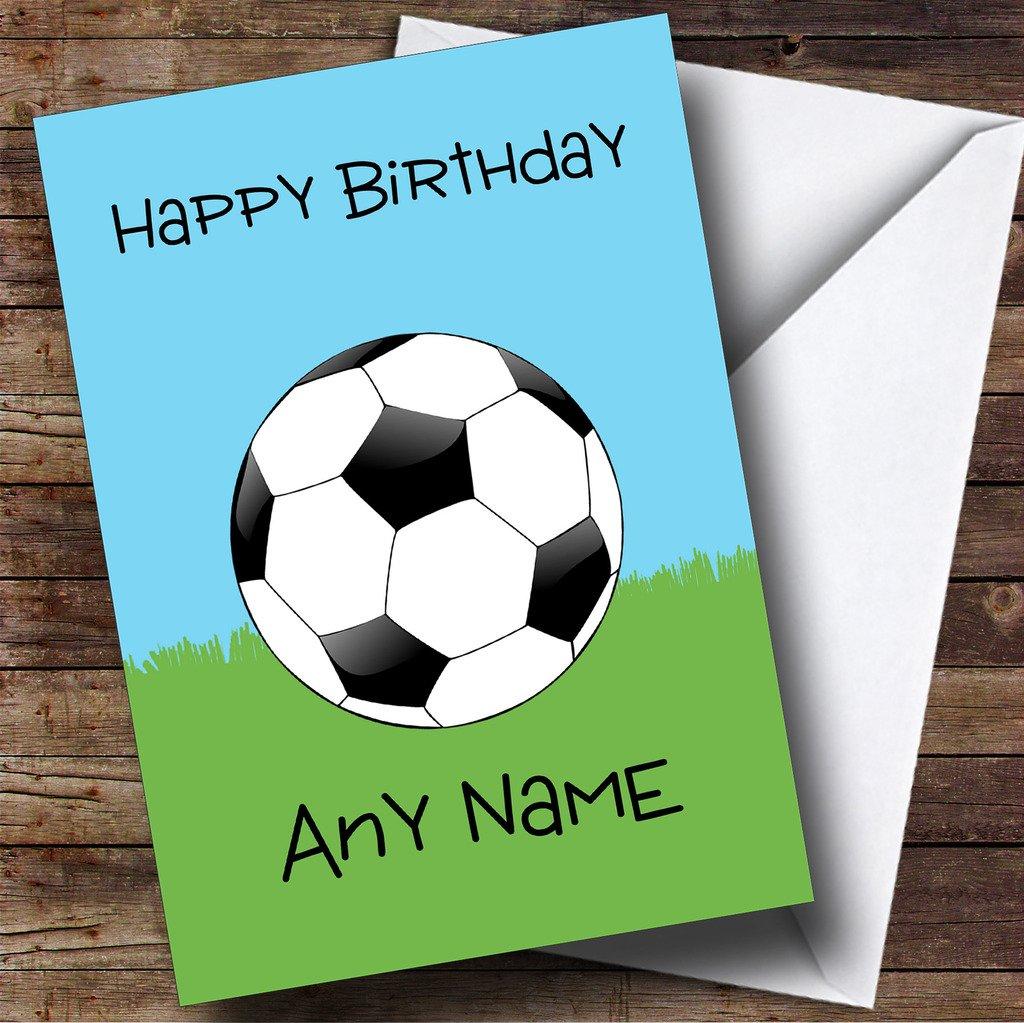 Fútbol pelota de niños Tarjeta de cumpleaños hijo Hija Sor hermano: Amazon.es: Oficina y papelería