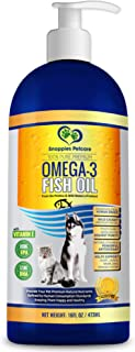 Snappies Petcare Omega 3 Fish Oil for Dogs and Cats - Wild Icelandic Natural Odour Free Liquid Fish Oil Pet Supplement with Vitamin E - More EPA & DHA Than Salmon Oil for Optimal Nutrition/Health