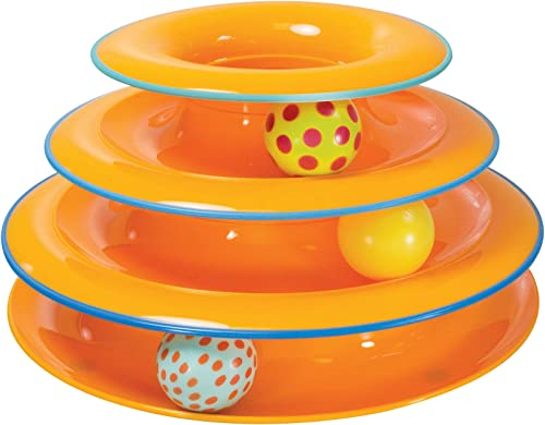 Petstages Cat Tracks Cat Toy - Fun Levels of Interactive Play - Circle Track with Moving Balls Satisfies Kitty's Hunt...