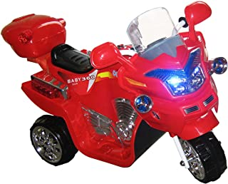 Ride on Toy, 3 Wheel Motorcycle for Kids, Battery Powered Ride On Toy by Lil' Rider – Ride on Toys for Boys and Girls, 2 - 5 Year Old - Red FX