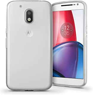 iGadgitz Transparent Clear Glossy TPU Gel Skin Case Cover for Motorola Moto G4 Play XT1601 2016 (4th Gen) + Screen Protector