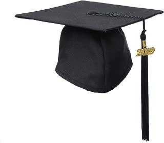 GraduationService Adults Graduation Matte Cap with 2019 Tassel Year Charm,12 Colors Option