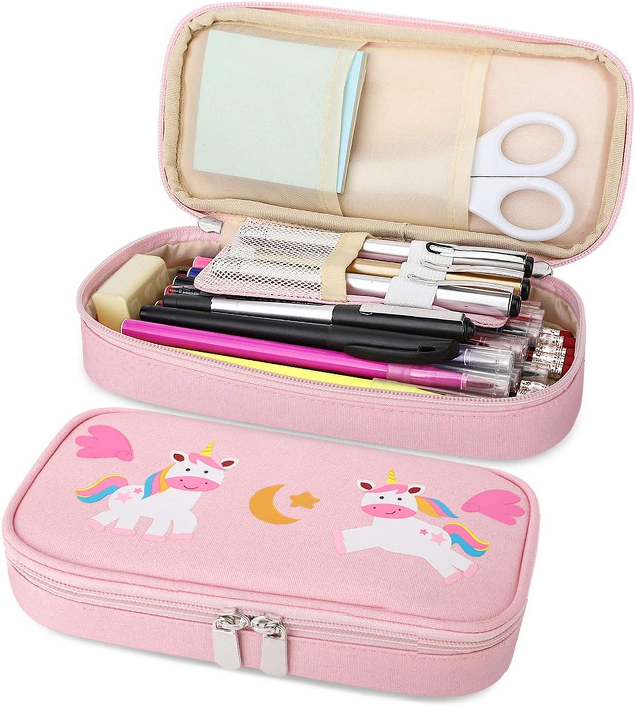 MoKo Pen Pencil Case Big NEW Tulsa Mall Stationery Prin Capacity Cute Students