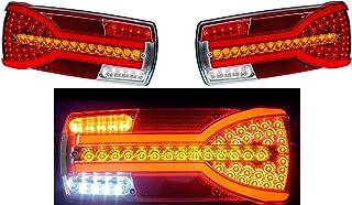 2x Neon LED Rückfahrscheinwerfer Kombi Rücklicht 12 24V Dynamische Richtungsanzeiger E Mark LKW Anhänger Chassis Bus Wohnmobil