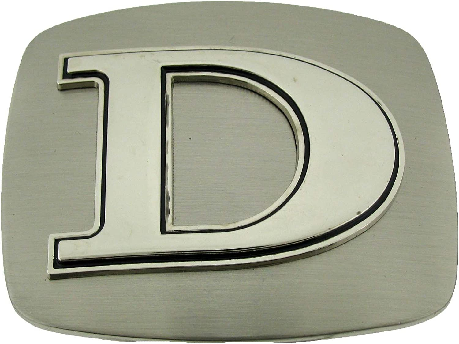 Initial Letters Western Style Cowboy Rodeo Plain Silver Belt Buckles