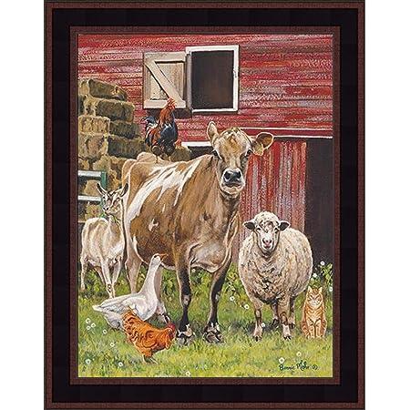 chicken farm animals Goat Print No.544