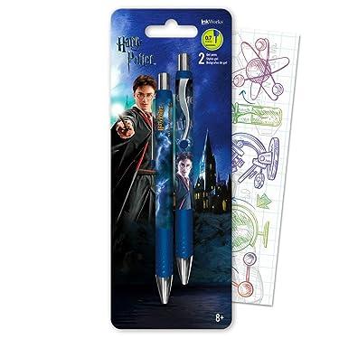 Harry Potter Gel Pen Set Bundle Includes 2 Harry Potter Gel Pens with Fun Separately Licensed GWW Bookmark