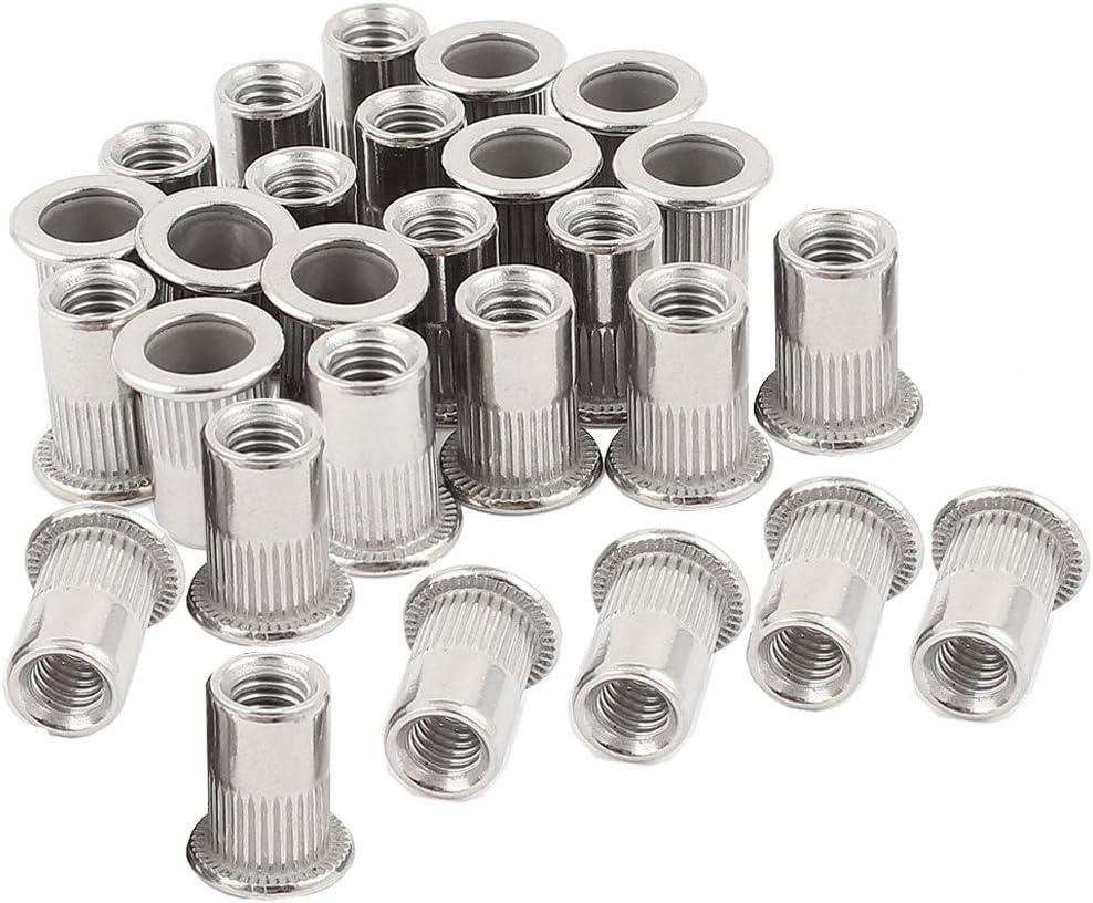 "30PCs Steel 60PCs 1//4/""-20 Rivet Nuts Threaded Insert Nutsert Rivnuts 1//4-20UNC"