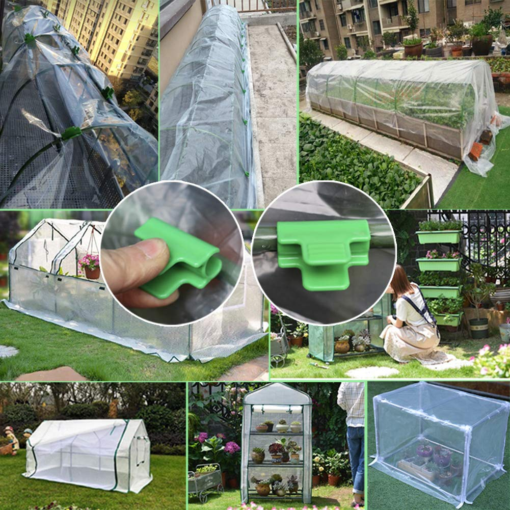 BuleEco 24 Plastic Spring Clamps Extra Strength and Grip Clips for Shelters Banner Frame Row Covers 48 Pcs 11mm Greenhouse Clamps