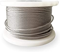 1/8 Inch T316 Stainless Steel Wire Rope, Rust Resistance, 200Ft