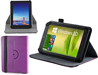 Navitech Purple Leather Case Cover with 360 Rotational Stand Compatible with The NeuTab K1 10.1 inch Quad Core Android Tablet