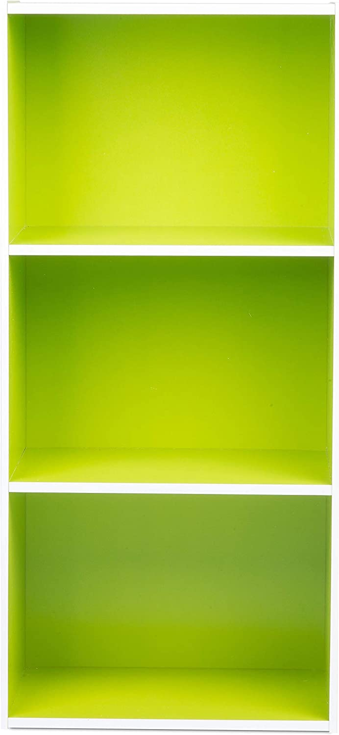 Home to Office Solutions Simplicity Bookcase, 3-Shelf, 35-Inch, Green