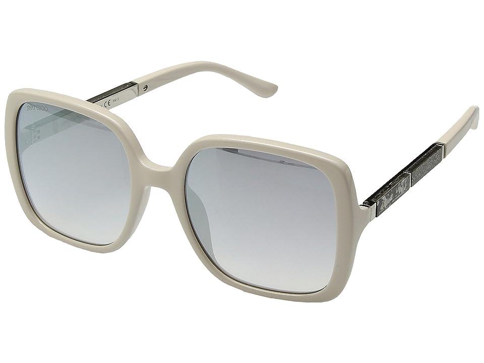 Jimmy Choo Chari/S (Beige/Grey Silver Mirror) Fashion Sunglasses