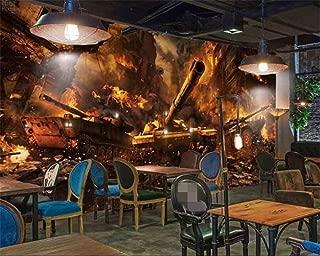 Mznm Custom Wallpaper War Tank Internet Cafes Background Murals Home Decor Living Room Bedroom Background Wall 3D Wallpaper-200X140Cm