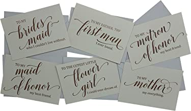 Wedding Party Thank You Cards - Beautifully Foil Stamped Rose Gold - 13 Cards + Envelopes Included - Perfect Way to Say Thanks to Friends & Family