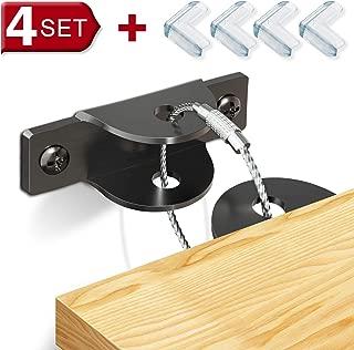 SYOSIN Furniture Anchors (4 Pack + 4 Corner Protector)...