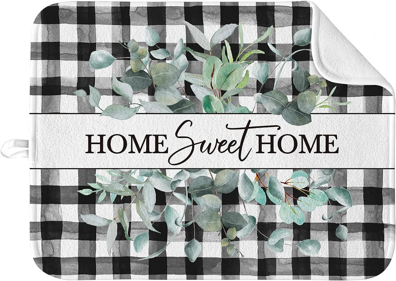 Artoid Mode Buffalo Plaid Limited time cheap sale Home Sweet Drying Eucalyptus Los Angeles Mall Mat