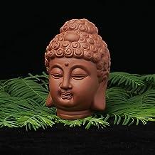 PPCP Ceramic Buddha Statues Head Purple Sand Sakyamuni Buddha Home Garden Decor Figurines Ornament Buddhism Microlandscape...