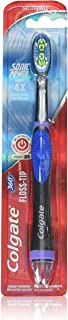 Best Colgate 360 Floss Tip Sonic Battery Power Toothbrush with Cheek and Tongue Cleaner, Soft Review