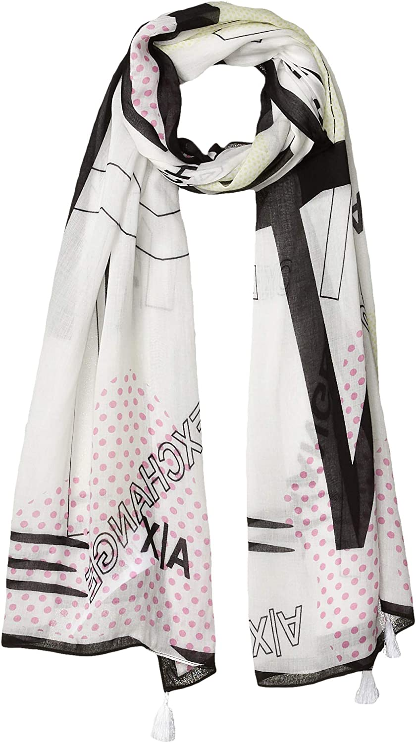AX Armani List price Exchange womens Spring Sca Viscose Printed Recommended Logo