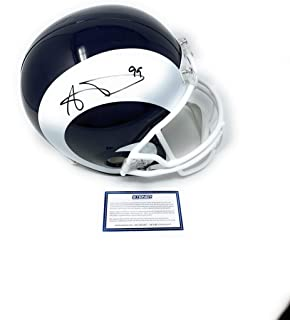 Aaron Donald Los Angeles Rams Signed Autograph Full Size Helmet Steiner Sports Certified