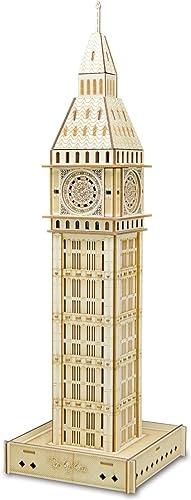 British Jigsaw Puzzles Puzzle Crafts Swing Big Ben 3D Modèle en Bois DIY Stereoscopic Puzzle Scrabble