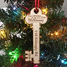 First Christmas in Our New Home Key w/address 2019 - Christmas Ornament