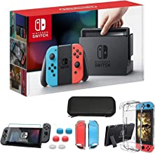 """Newest Nintendo Switch 32GB Console with Neon Blue and Neon Red Joy-Con, 6.2"""" Touchscreen 1280x720 LCD Display, 802.11AC W..."""