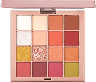 NuView Eyeshadow Palette Fall In Love Makeup Cruelty Free Long Lasting 16 colors - Pink - Red