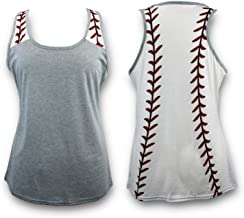 KNITPOPSHOP Baseball Tank Top for Mom Fans T Shirt Apparel Tshirt Gifts Team