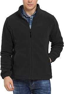 Men's Fleece Jacket Full Front Zip Casual Lightweight Polar Jacket