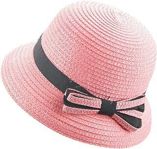 Topgrowth Cappello di Paglia Bimba Cappello Pesca Cappello di Paglia Cappello da Sole Spiaggia Vacanza Festa Cappellino El...