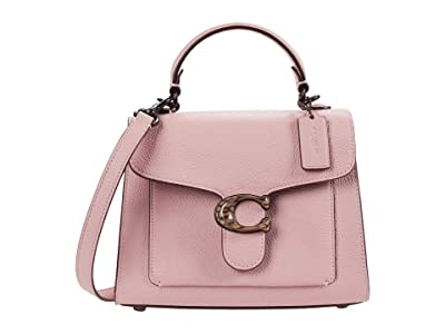 COACH Polished Pebble Leather Resin C Closure Tabby Top-Handle 20