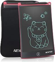 NEWYES 8,5 Pulgadas Tableta Gráfica, Tablets de Escritura LCD, Portátil Tableta de Dibujo Adecuada para el hogar, Escuela, Oficina, Cuaderno de Notas, con Funda, 1 Año de Garantía (Rojo)