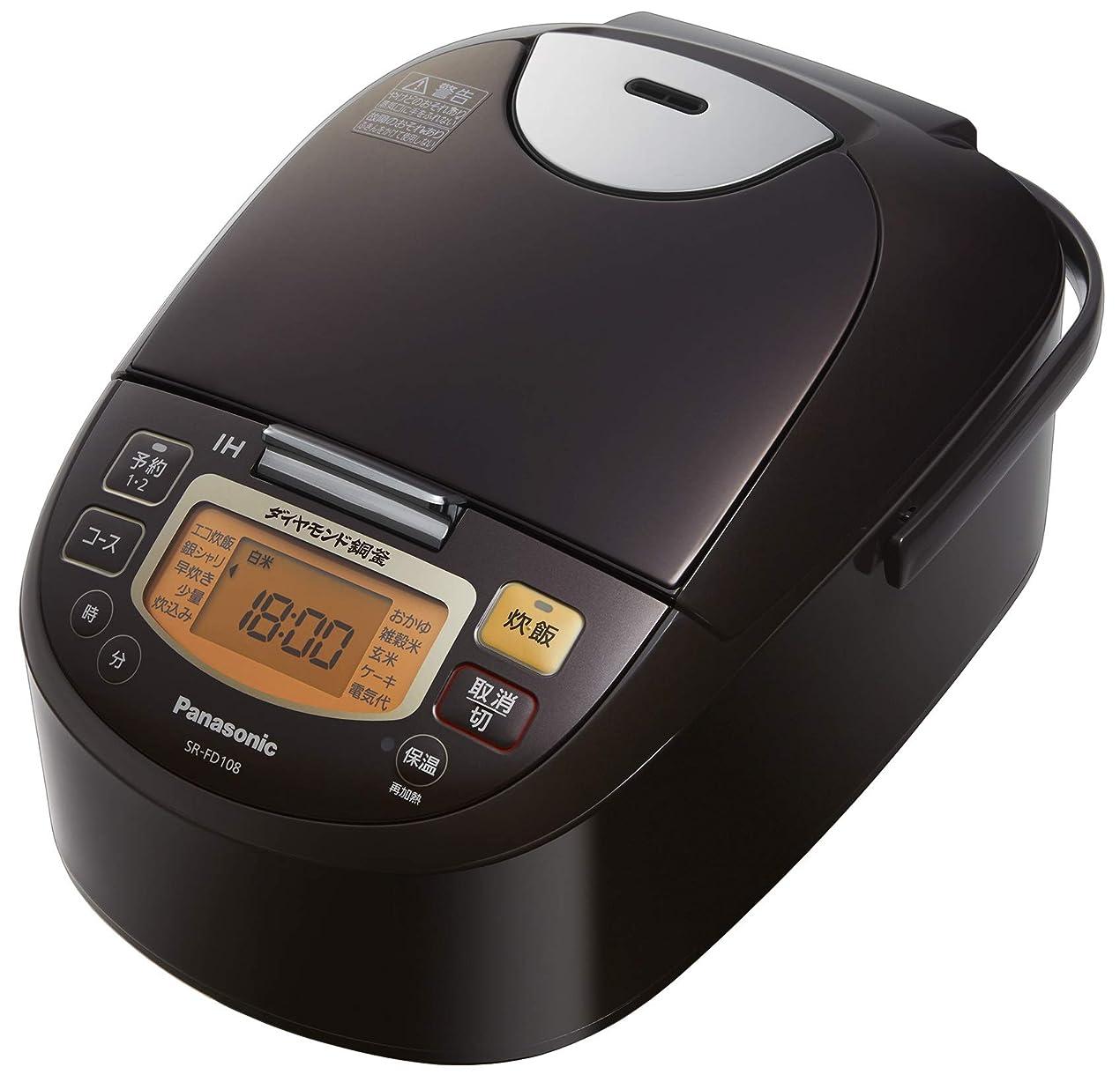 パナソニック 炊飯器 5.5合  IH式 ブラウン SR-FD108-T