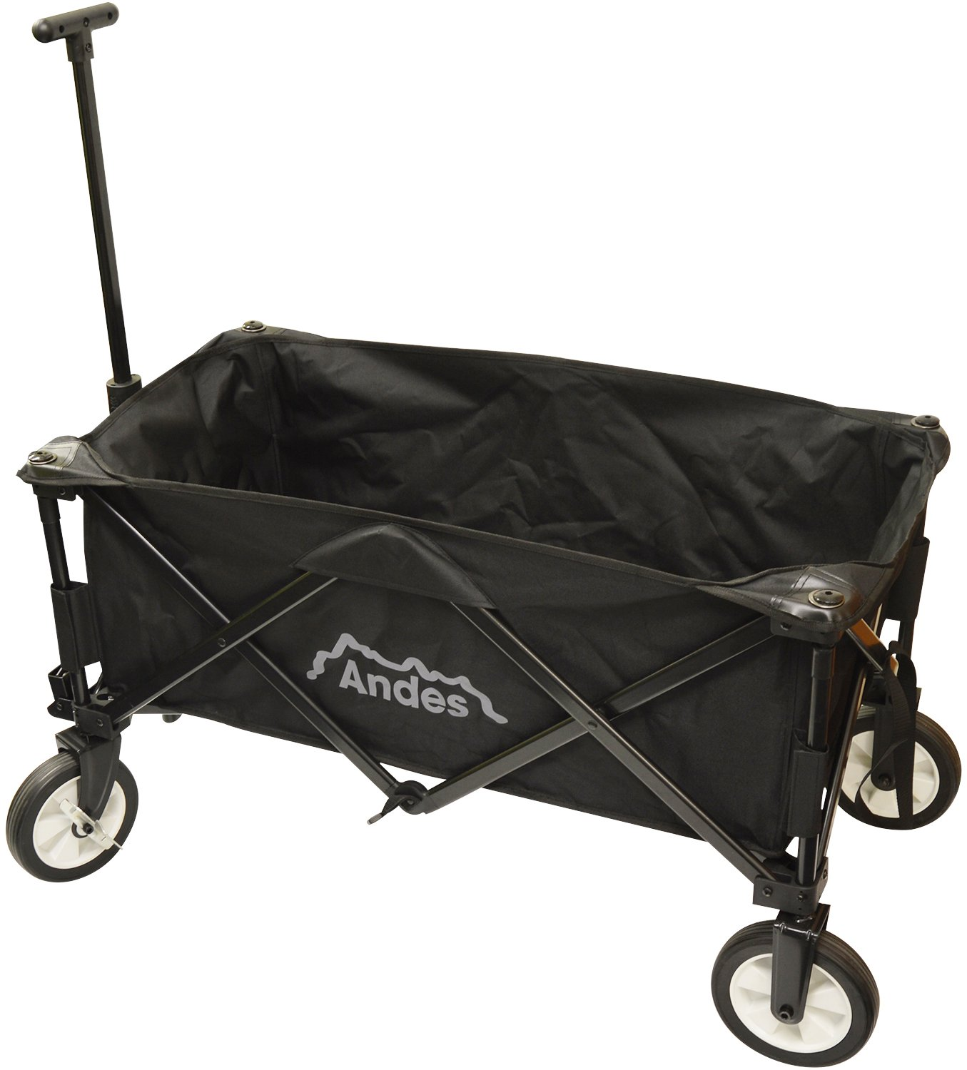 FOLDING FESTIVAL TROLLEY CAMPING PULL ALONG TROLLEY WAGON TRAILER CART
