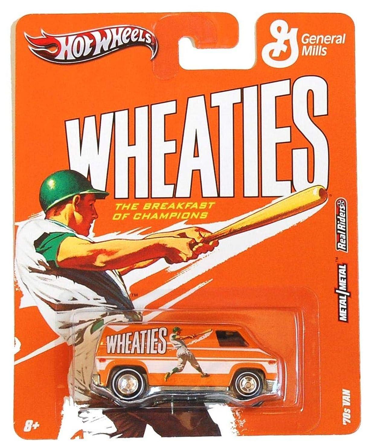 ボウリング植物学者まともな'70s VAN * WHEATIES * Hot Wheels General Mills Cereal 2011 Nostalgia Series 1:64 Scale Die-Cast Vehicle
