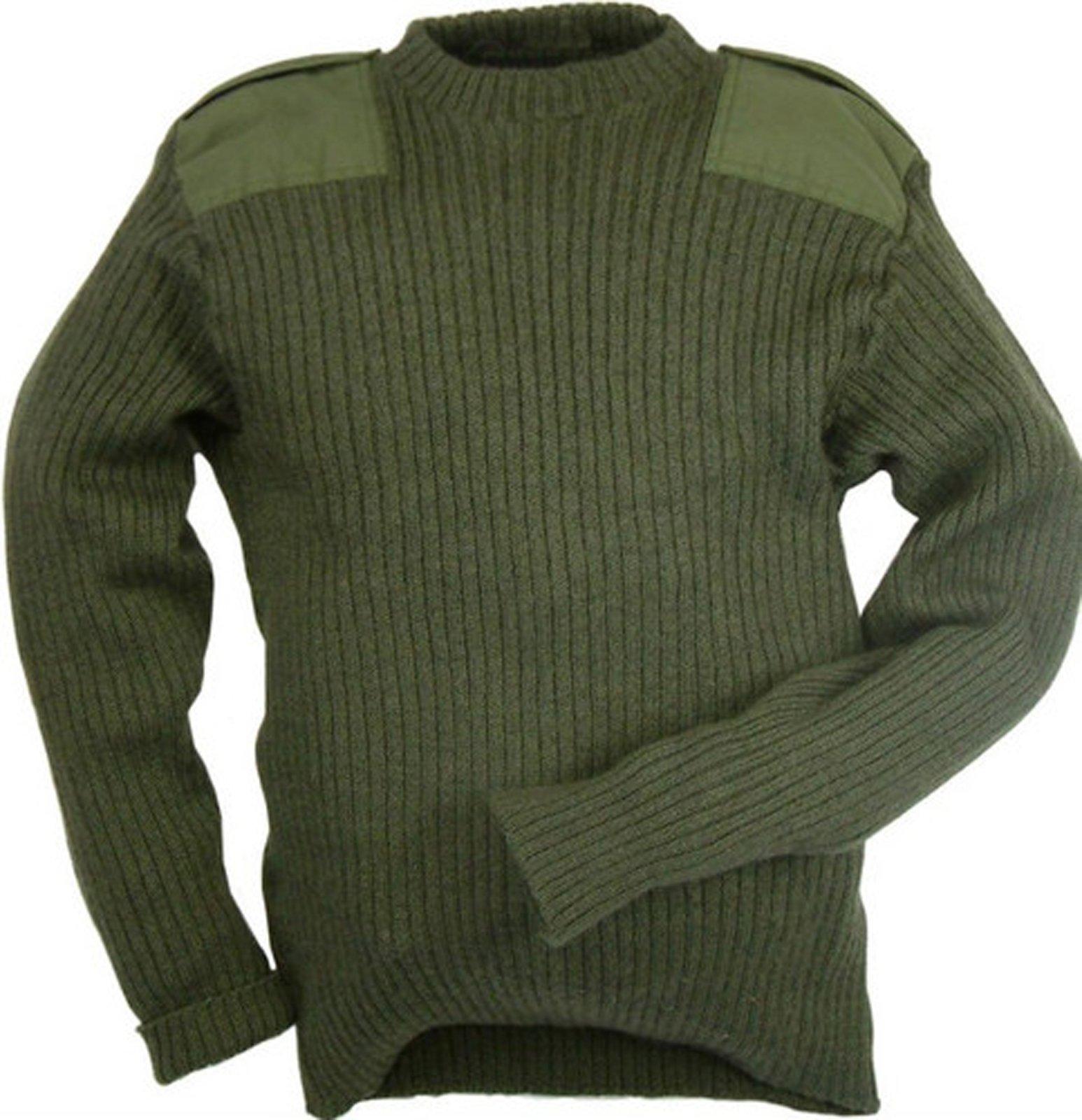 Genuine British Army Woolen Pullover Jumper Olive Green Army Surplus (100 cm 40