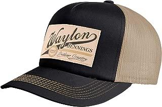 Waylon Jennings Men's Patch Trucker Hat Trucker Cap Cream