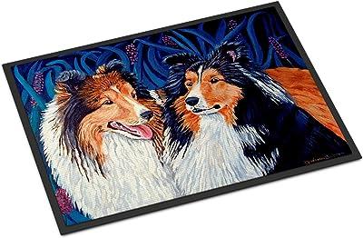 """Caroline's Treasures 7508MAT Sheltie Indoor Outdoor Doormat, 18"""" x 27"""", Multicolor"""