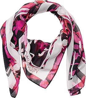 Calvin Klein womens Calvin Klein Batik Floral Square Polyester Scarf