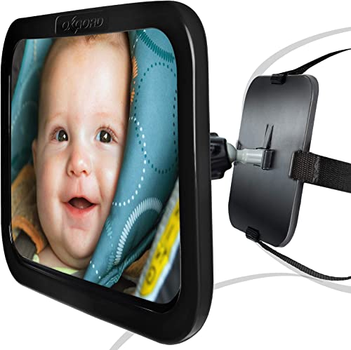 lowest Baby Car outlet online sale Mirror for Rear Facing Backseat Carseat - Auto Back Seat Headrest Mirrors for Infant & Toddler - 360 Adjustable lowest & Double Straps online sale