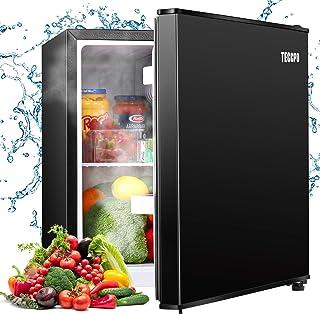 Compact Refrigerator, TECCPO 1.7 Cu.Ft Mini Fridge with Freezer, Energy Star, Auto Defrost, Super Quiet, Reversible Door, ...