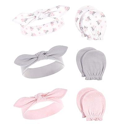 Hudson Baby Cotton Headband and Scratch Mitten Set (Infant)