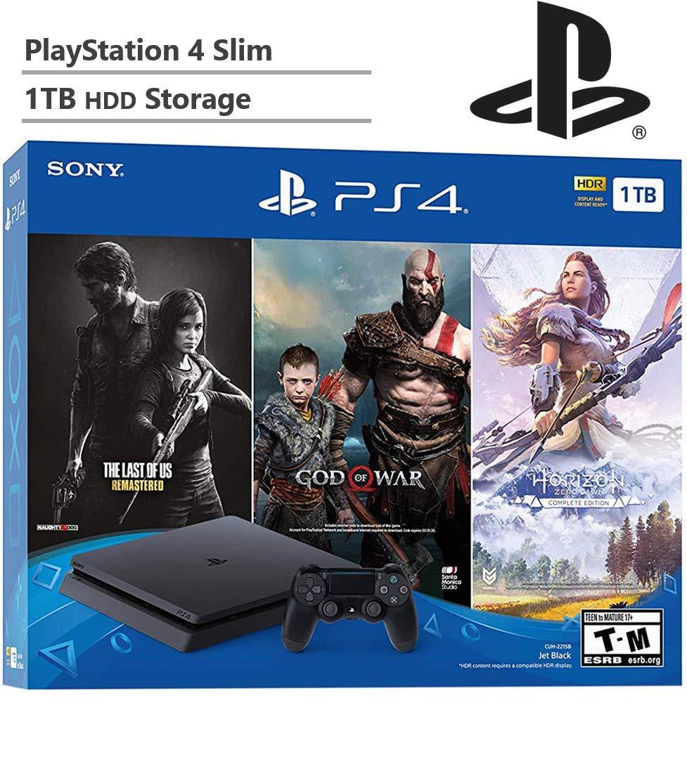 KKE 2019 - Juego de consola SSD para Playstation 4 Slim PS4 actualizado hasta 2 TB, incluye 3 juegos (The Last of Us, God of War, Horizon Zero Dawn): Amazon.es: Informática