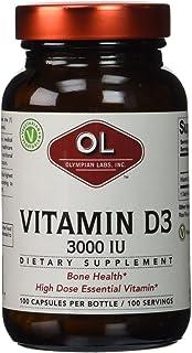 Olympian Labs Vitamin D3-3000 IU - 100 Capsules