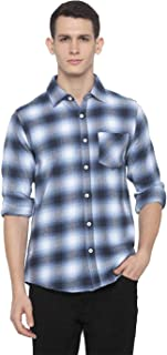 Nick&jess Mens Checkered Slim Fit Flannel Shirt