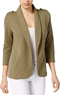 Womens Knit Military Jacket