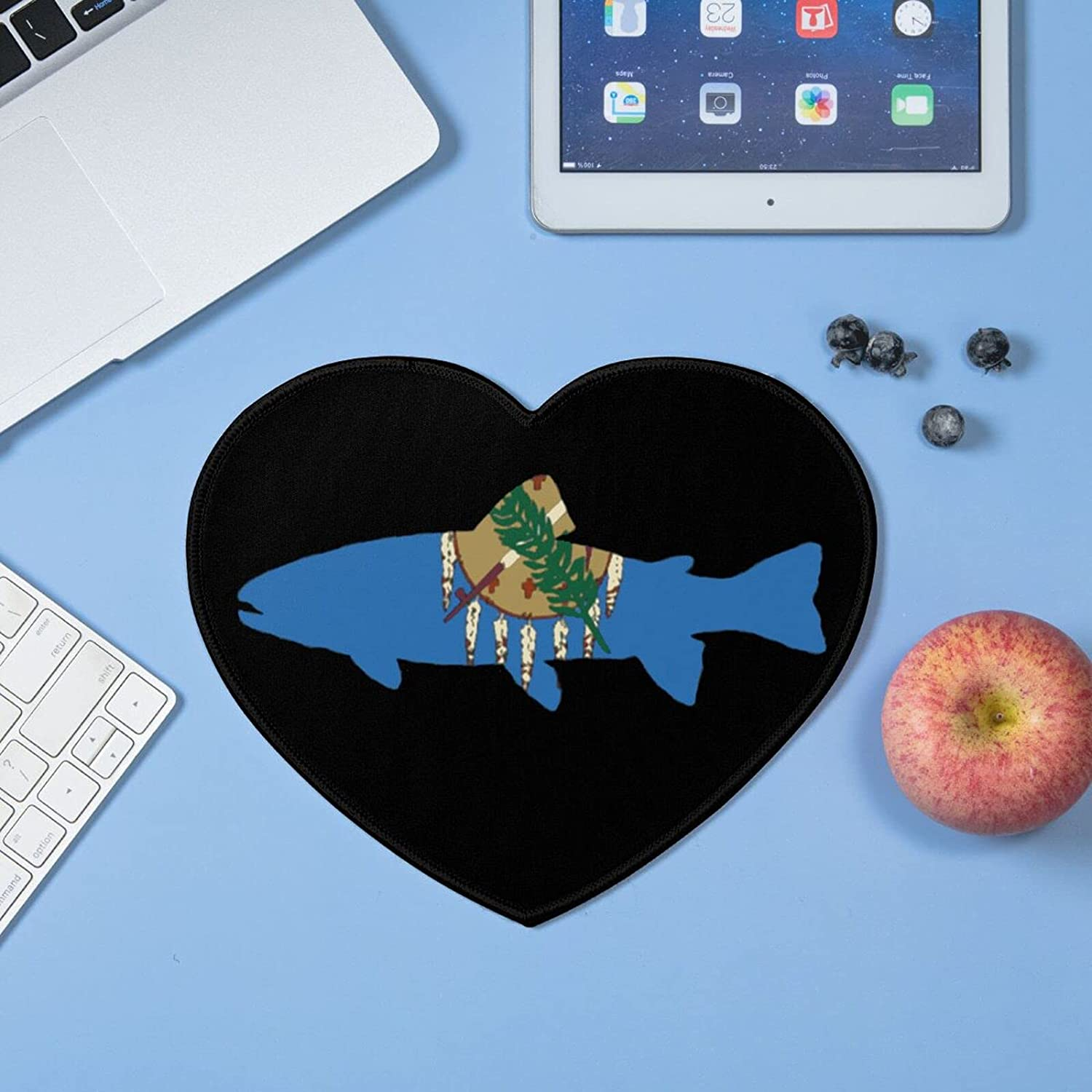 Oklahoma State Shaped Trout Same day Super special price shipping Heart-Shaped Mouse Non-Slip pad Wate
